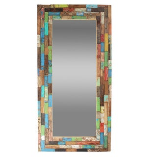 Reclaimed Balinese Boat Wood Mirror