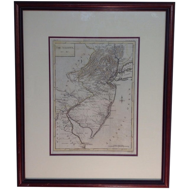 """1788 """"The Jerseys"""" Hand Colored Engraved Map - Image 1 of 10"""