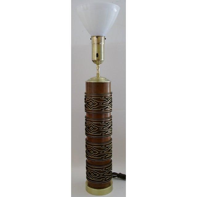 Image of Belgian Wallpaper Roller Table Lamp