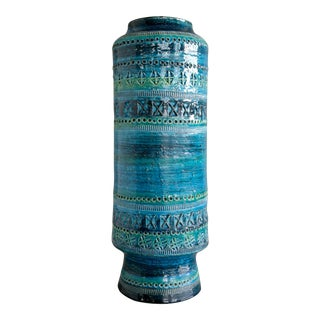 Aldo Londi for Bitossi Remini Blu Ceramic Vase