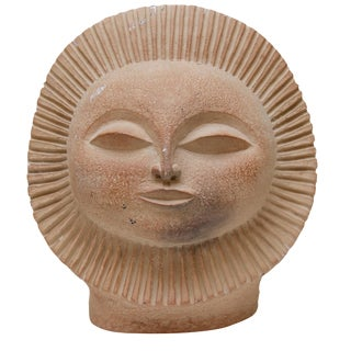 Mid-Century Sun Face Sculpture