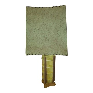 Mid-Century Green Ceramic Table Lamp