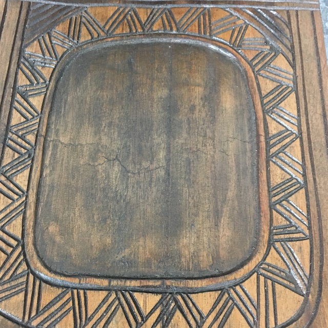 Hand Crafted Wooden African Chair - Image 7 of 9