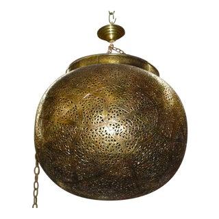 Very Fine Brass Moroccan Chandelier Lantern Pendant