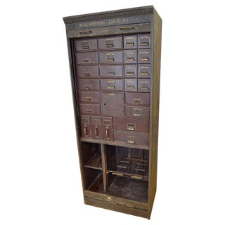 Midwestern Post Office Steel File Cabinet