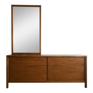 Widdicomb Mid-Century Credenza Dresser With Mirror