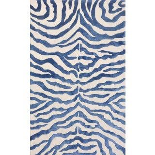 Bamboo Silk and Wool Zebra Area Rug - 5' X 8'