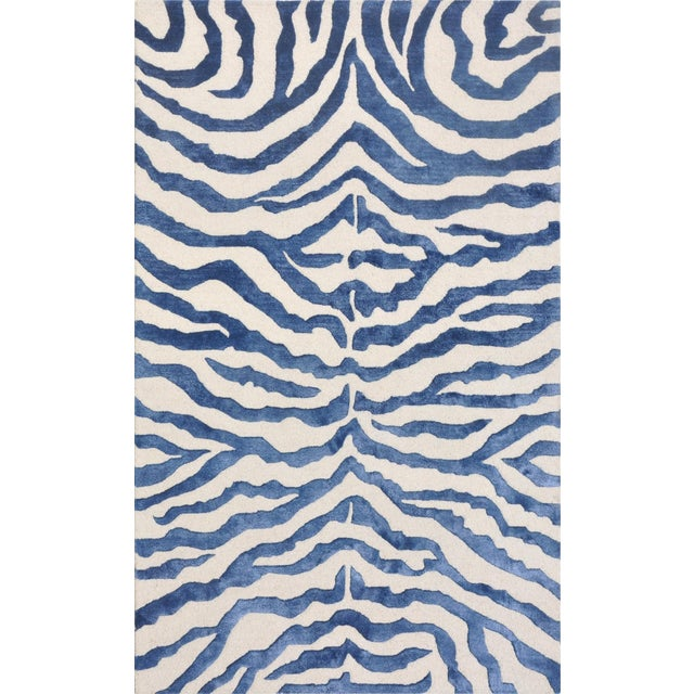 Bamboo Silk And Wool Zebra Area Rug - 5' X 8'
