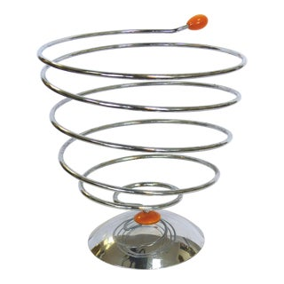 Italian Chrome Spiral Fruit Bowl