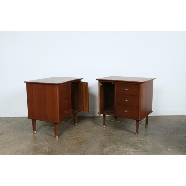 Refinished Walnut Side Tables Nightstands - A Pair - Image 7 of 11