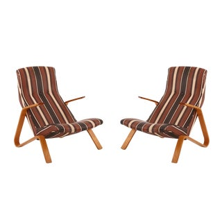 Early Pair of All Original Saarinen Knoll Grasshopper Chairs
