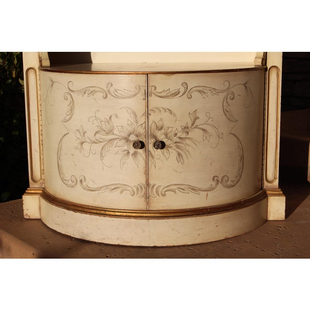 Karges Painted Demilune Nightstand - Pair - Image 8 of 11