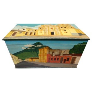1960s Guatemalan Painted Trunk