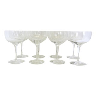 Orrefors Illusion Crystal Champagne Sherbet Coupes-Set of 8