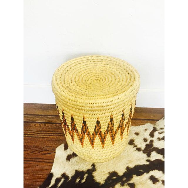 Large Vintage Coil Basket or Hamper - Image 4 of 6