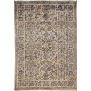 """Vibrance, Hand Knotted Gray Wool Area Rug - 5' 10"""" X 8' 5"""""""
