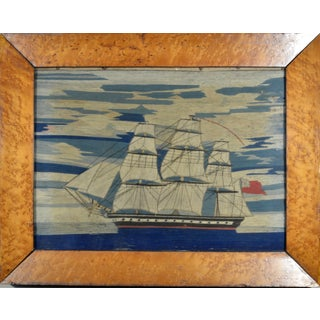 English Sailor's Woolwork of a Royal Navy Ship, Circa 1865.