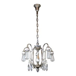 Satin Silver Plated Dining Room Fixture (5-Light)