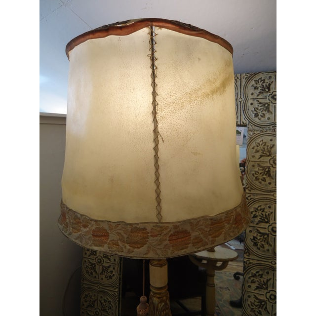 Vintage Carved Wood Standing Lamp - Image 4 of 4
