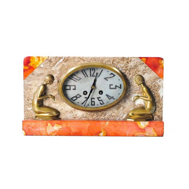 Art Deco Vintage Marble & Bronze Clock C.1930 - Image 2 of 9