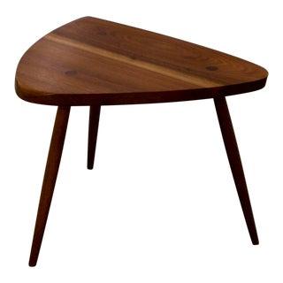 George Nakashima Walnut Tripod Lamp Table