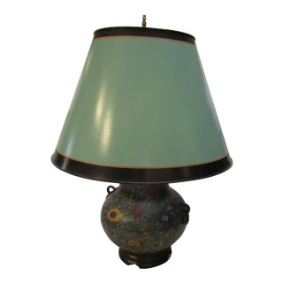 Vintage Chinoiserie Enamel Inlay Lamp