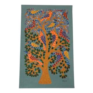 """Haarl Tree"" Tribal Art by Indian Artist Narmada Prasad Tekam"