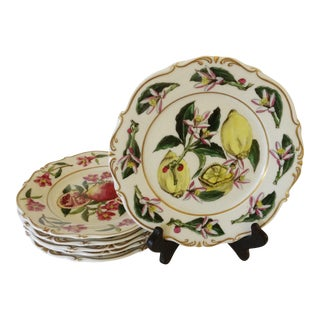 French Fruit Plates - Set of 6