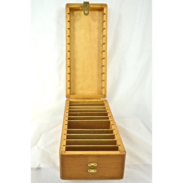 Image of Handcrafted Wood Box with Dividers Inside