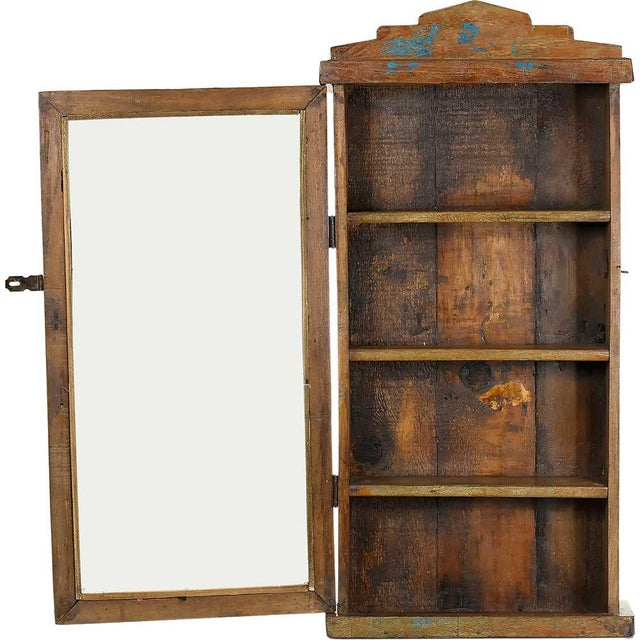 Rustic Solid Wood Showcase Wall Cabinet - Image 3 of 4