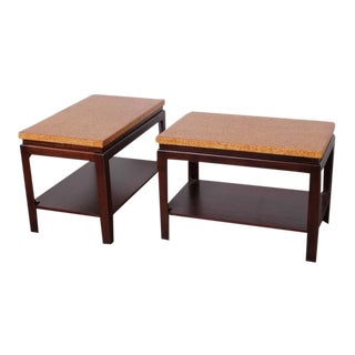 Pair of Cork Top End Tables by Paul Frankl