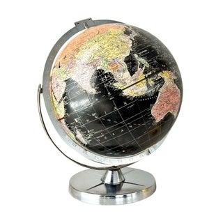 Vintage 1960s Black World Globe