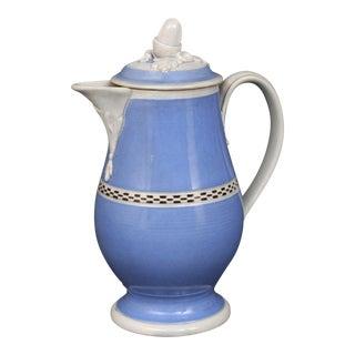 Rare English Mocha Coffee Pot, Circa 1820