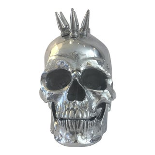 Polished Nickel Spiked Skull Head