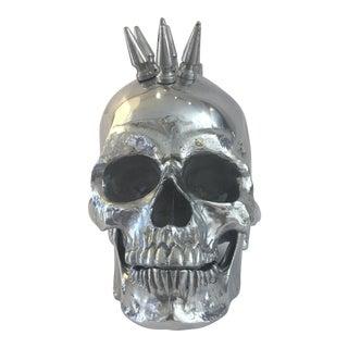 Polished Nickel Spiked Skull Head