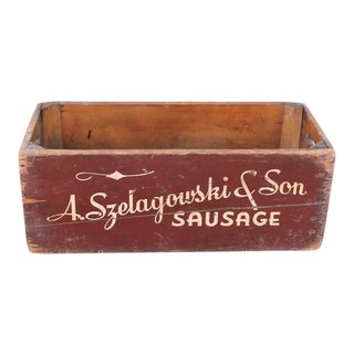 """A.Szelagowski & Son Sausage,"" Advertising Box"