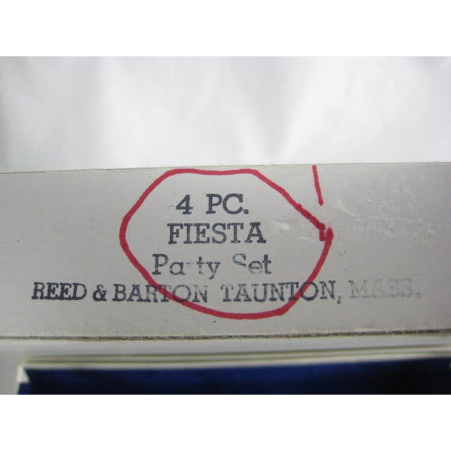 1960s Reed & Barton Silverplate Fiesta 4 Piece Set - Image 7 of 7