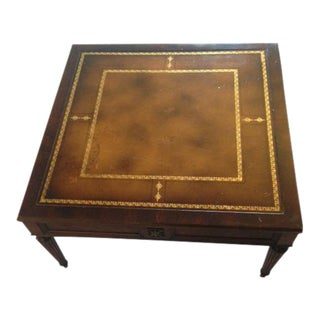 Antique Gold Detailed Wood Coffee Table