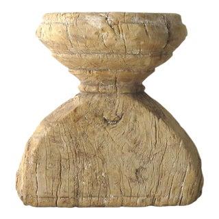 Primitive Wood Candle Holder