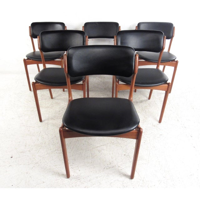 Vintage Erik Buch Scandinavian Modern Dining Chairs - Set of 6 - Image 2 of 11
