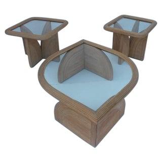 Gabriella Crespi Style Rattan Coffee End Tables