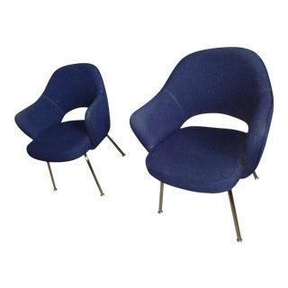 Eero Saarinen Style Executive Armchairs - Pair