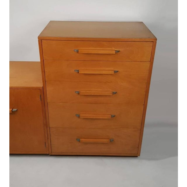 Image of 'Flexible Home Arrangement' Modular Birch Cabinet System by Eliel Saarinen