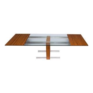Vladimir Kagan Glass Top Extension Table