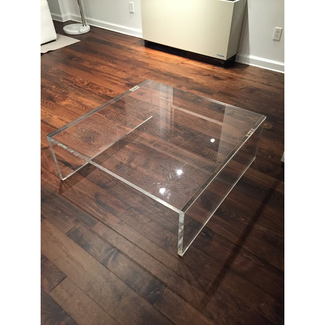 New York City Map Etched Acrylic Coffee Table - Image 2 of 6