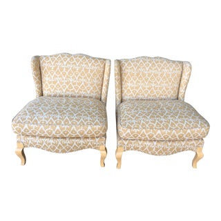 Eclectic Slipper Chairs - A Pair