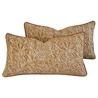 Fortuny Campanelle Silk Velvet Pillows - A Pair