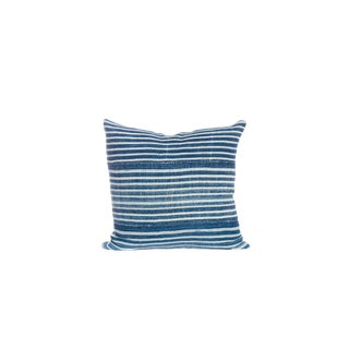Vintage Indigo Striped Pillow