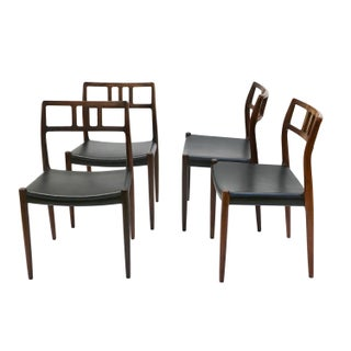 Danish Modern Rosewood Niels Moller Dining Chairs - Set of 4