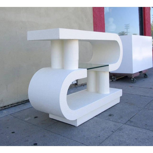 petite postmodern shelf or console chairish. Black Bedroom Furniture Sets. Home Design Ideas